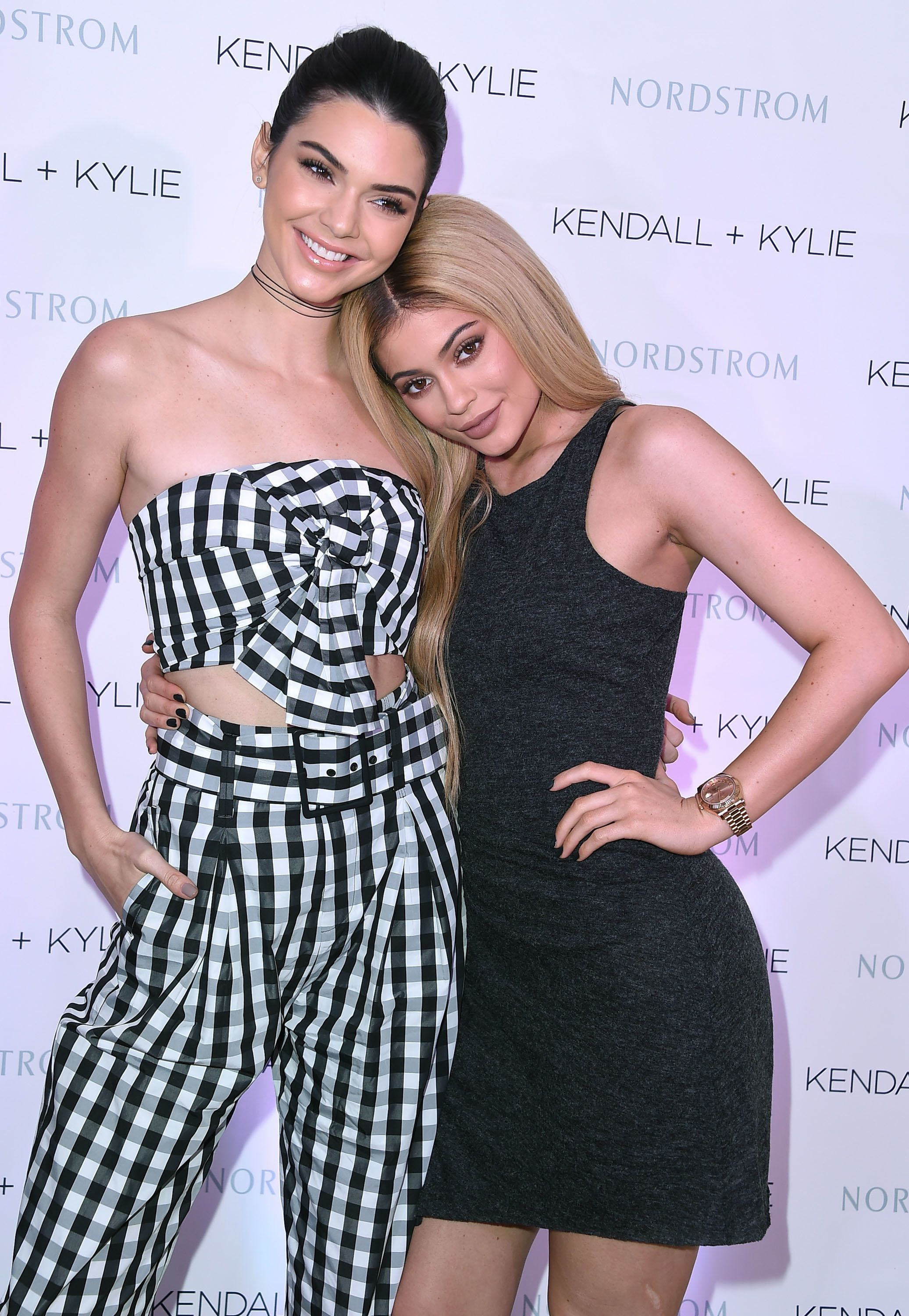 Kendall and Kylie Jenner celebrate Kendall + Kylie Collection at Chateau Marmont on March 24, 2016, in Los Angeles, Californi