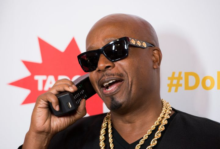 MC Hammer talking on an old phone. Do you feel nostalgia?