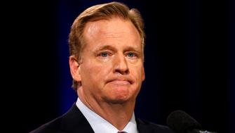 NFL Commissioner Roger Goodell speaks to the media before Super Bowl XLIX in Phoenix, Arizona January 30, 2015. REUTERS/Lucy Nicholson (UNITED STATES - Tags: SPORT FOOTBALL HEADSHOT)