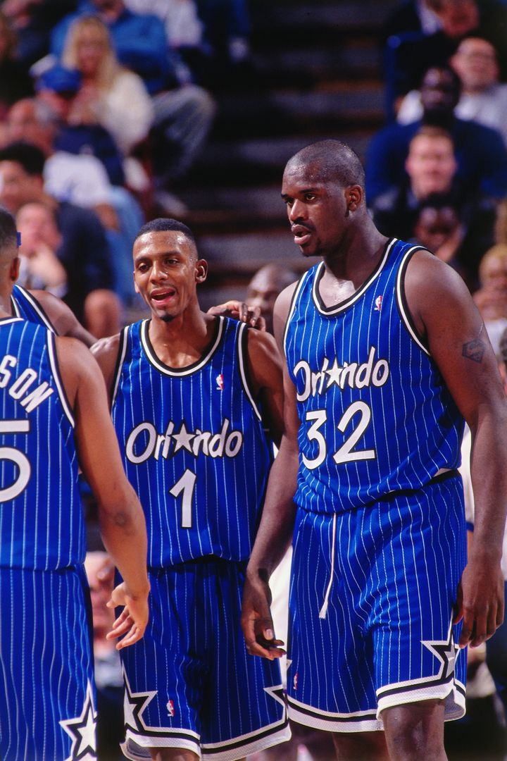 O'Neal and Penny Hardaway were swept in the 1995 NBA Finals by Hakeem Olajuwon and the Houston Rockets.