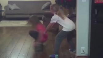 Little girl thrown by hoverboard.