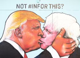 Someone Has Painted A Giant Mural Of Donald Trump Snogging Boris Johnson In Bristol