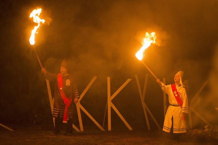 Members of the Rebel Brigade Knights and the Nordic Order Knights, groups that both claim affiliation with the Ku Klux Klan,