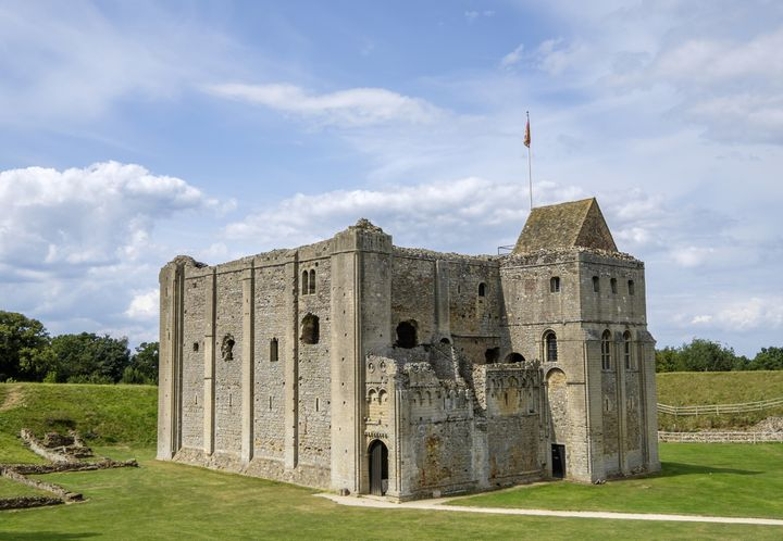 Castle Rising, in Norfolk, England, allegedly haunted by the ghost of Queen Isabella.