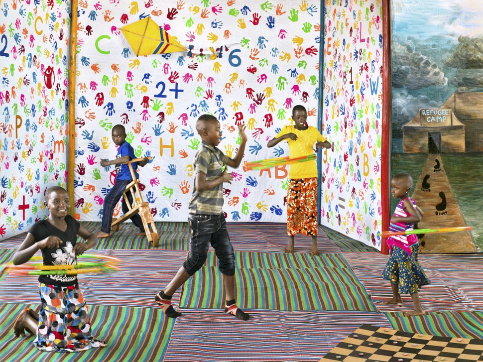 "Here, children in Nyarugusu refugee camp show the different ways they play and express themselves in the camp's ""Child F"