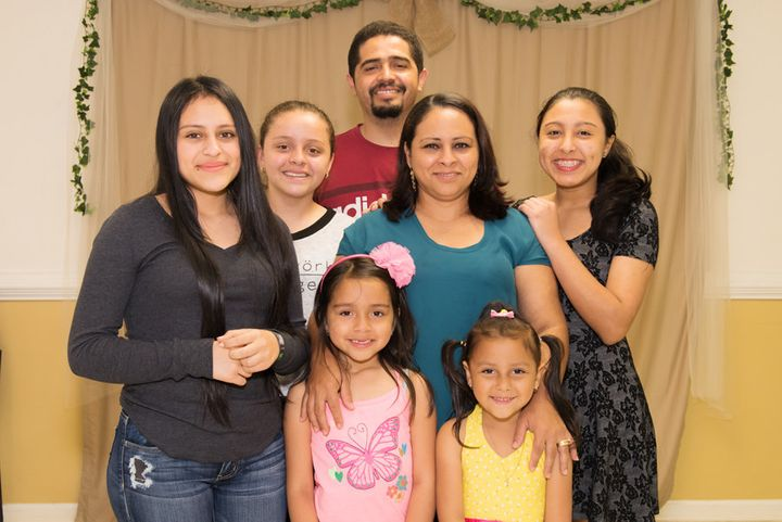 Kimberly Pineda Chavez (right) is back with her family.<i></i>