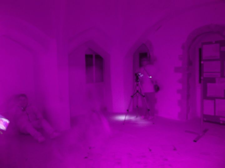 Original full spectrum image of the alleged ghost of Queen Isabella who reportedly haunts Castle Rising in Norfolk, UK.