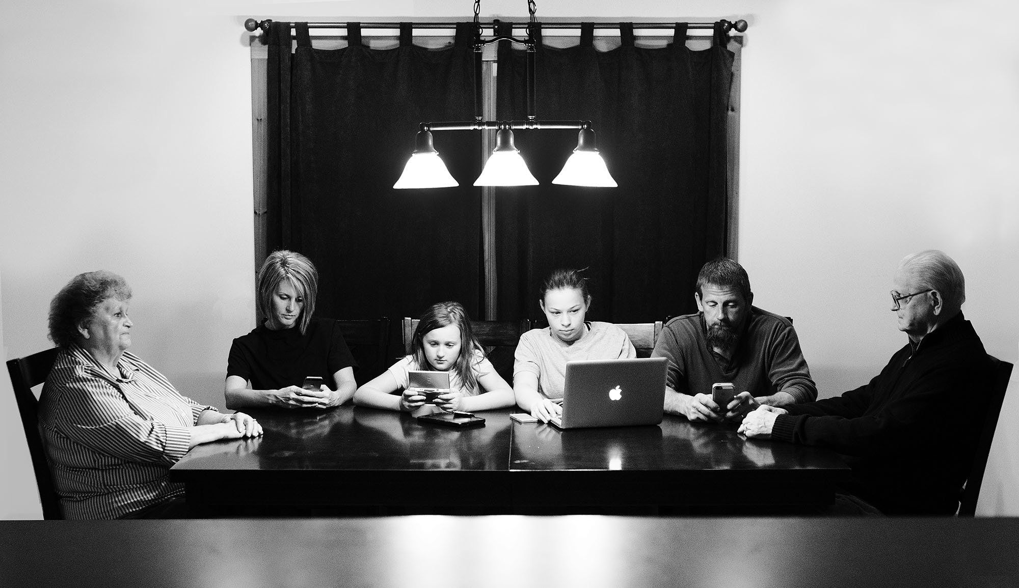 Chelsey Hale's photos show how often families turn to social media.