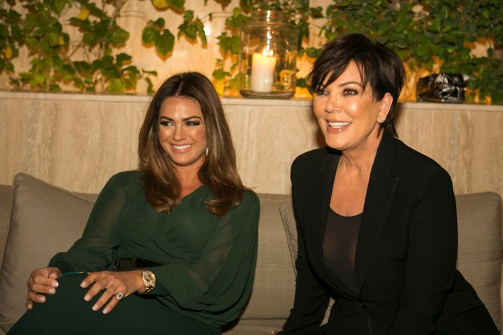 Kris Jenner at Legacy Business School's launch party in Dubai.