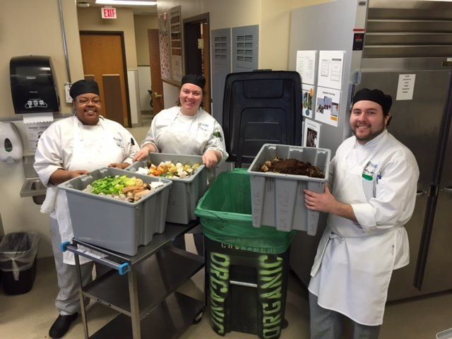 Future chefs atMilwaukee Area Technical College getting rid of food waste.