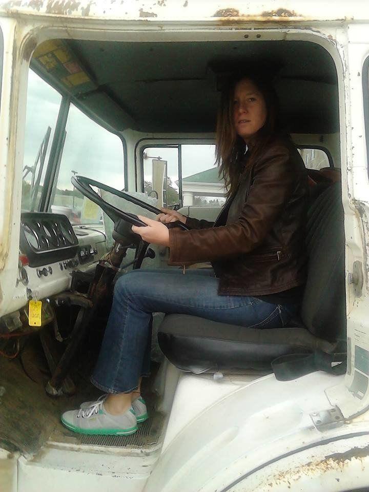 Tashjian with her first truck.