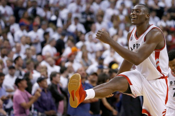 Center Bismack Biyombo, 23, has averaged 9 points, 12 rebounds and two blocks since entering the starting lineup in Game 4 of