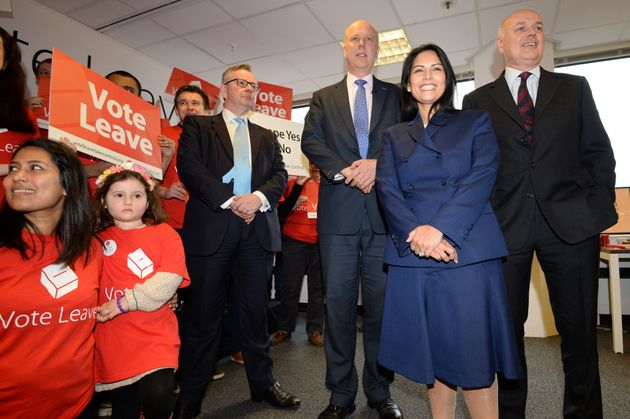 Michael Gove, Chris Grayling, Priti Patel and Iain Duncan Smith of Vote Leave.Gove, Patel and Duncan...