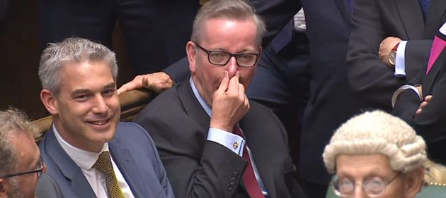 Michael Gove spotted by eagle-eyed Labour