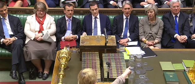 A pro-EU Conservative frontbench at PMQs