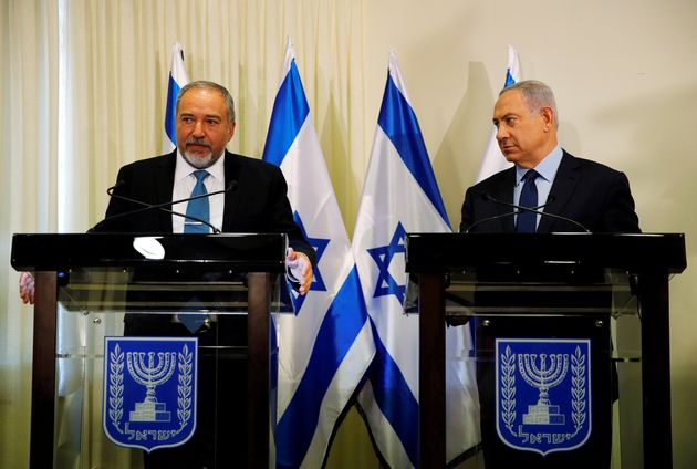 Benjamin Netanyahu, right, and Avigdor Lieberman issued assurances that the new right-wing government...