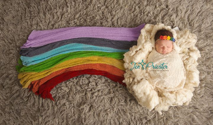 A rainbow baby is a child born after a miscarriage, stillbirth, neonatal death or infant loss.