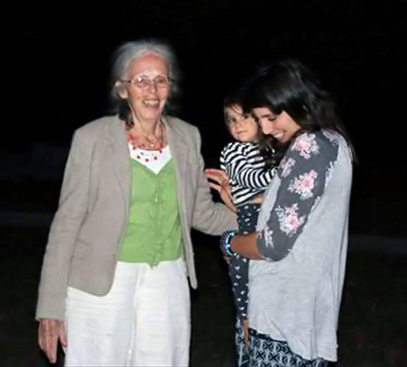 Olivia and Margaux enjoying a good joke with Ina May Gaskin.