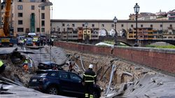 Photos Show A Road Sink And Disappear In Italy's