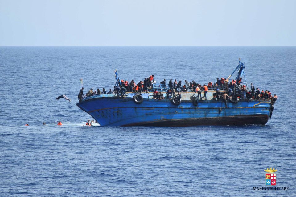 At least five migrants died and it is feared the death toll will rise