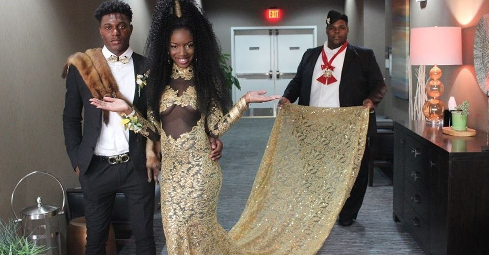 This Slayed Prom With Her Coming To America Themed Gown Huffpost