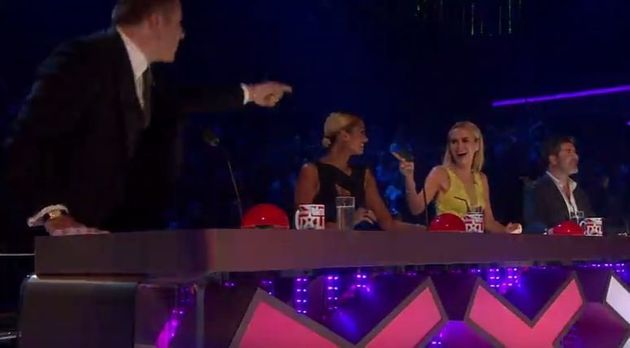 Dec was not impressed with Alesha Dixon's antics on the