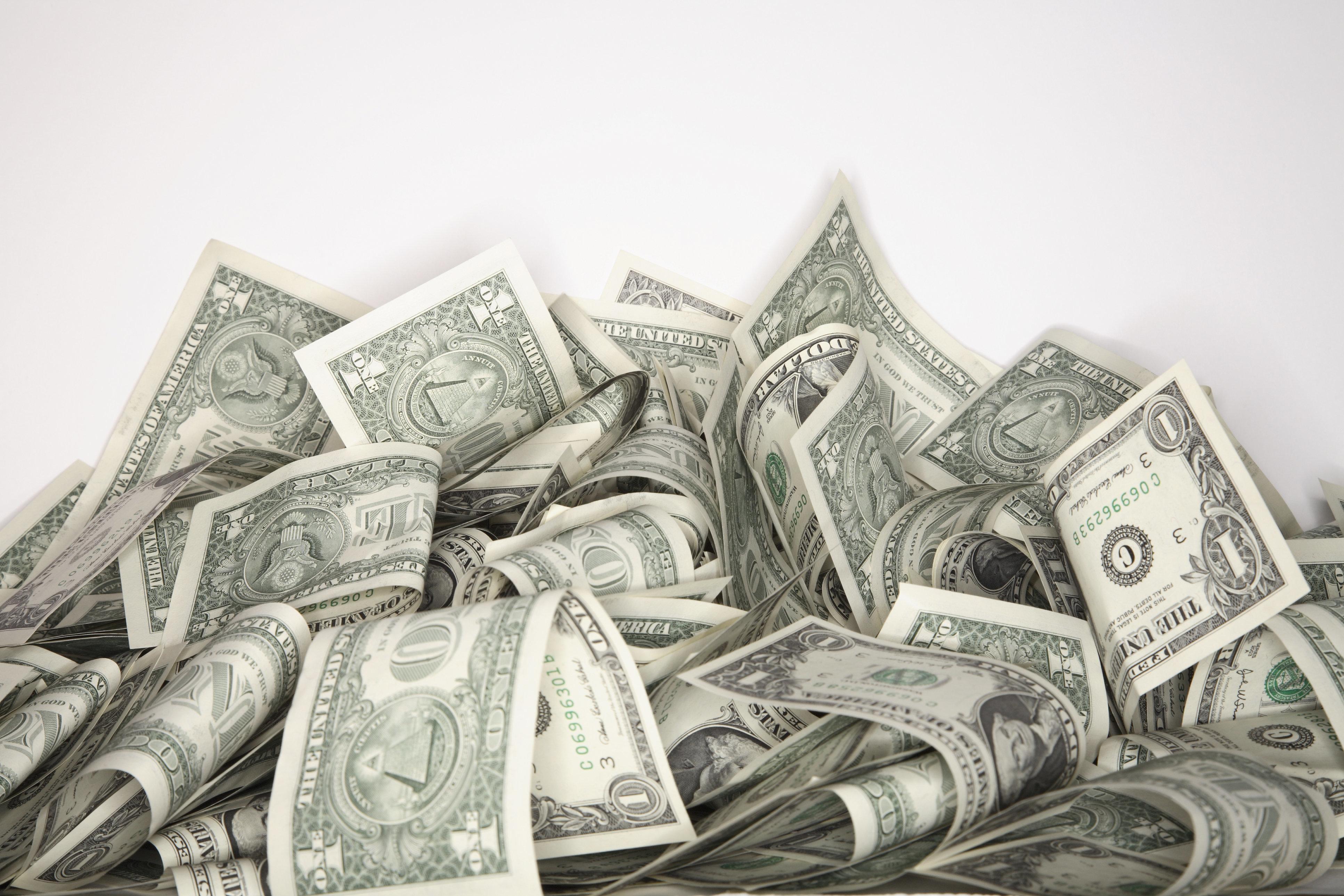 Pile of $1 bills