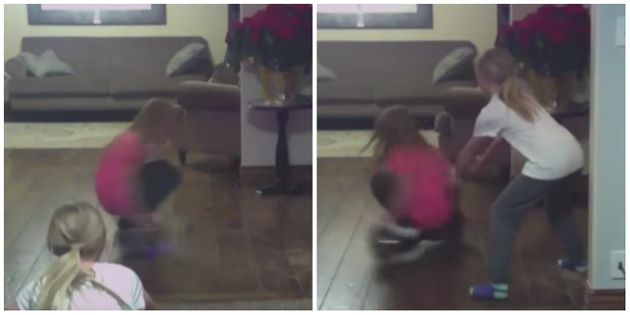Girl Gets Stuck Spinning Uncontrollably On Hoverboard, Ends Up Crashing Into The