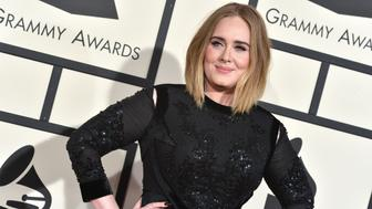 Adele attends The 58th GRAMMY Awards at Staples Center on February 15, 2016 in Los Angeles, CA, USA.