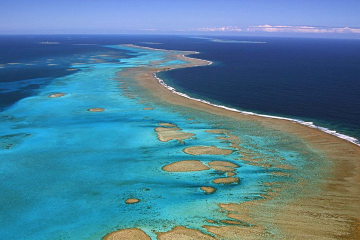 New Caledonia's coral reefs are under threat from bleaching.