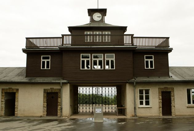 The camp gate of the former Buchenwald Nazi concentration