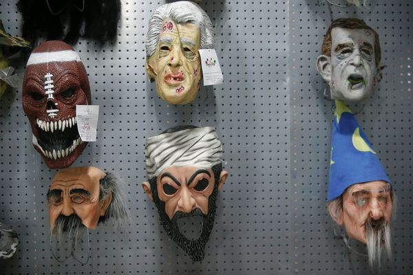 The Halloween and party supply business produces rubber masks of many people, including Osama Bin Laden.