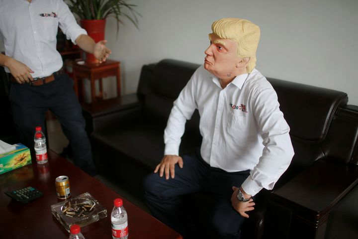 While sales of the masks of Clinton and Trump are more or less the same, factory manager Jacky Chen believes that the Trump m