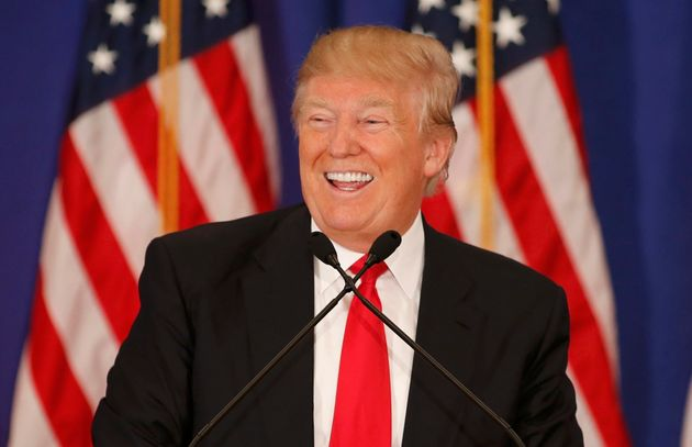 Republican U.S. presidential candidate Donald Trump speaks during a news conference at his Trump National...
