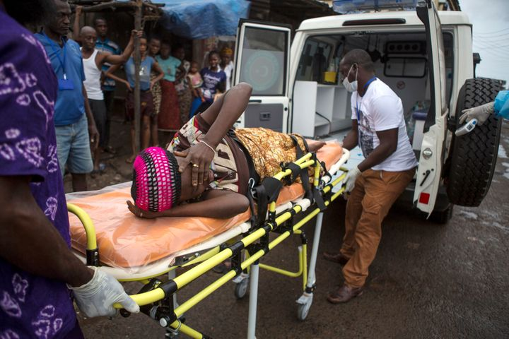 During Sierra Leone's Ebola crisis, thousands of girls became pregnant. Here, a pregnant woman suspected of c
