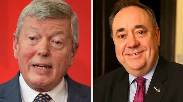 Alan Johnson, 66 (left) and Alex Salmond, 61 (right), will represent Remain during Thursday night's