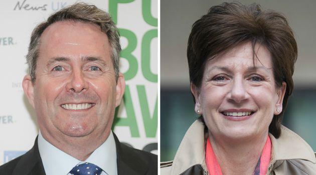 Liam Fox, 54 (left) and Diane James, 56 (right) will represent