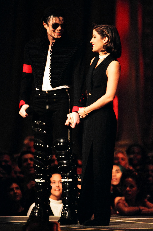 Michael Jackson and Lisa Marie Presley (Photo by Jeff Kravitz/FilmMagic)