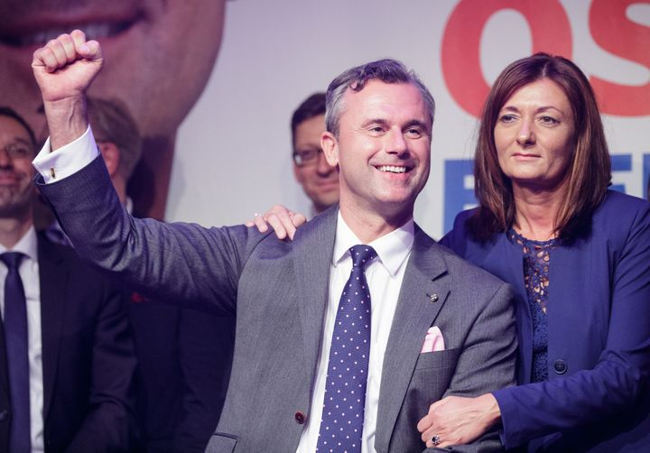 Norbert Hofer of Austria's Freedom party, on Sunday, May 22, 2016. Hofer lost the presidential election by just a few thousand votes.