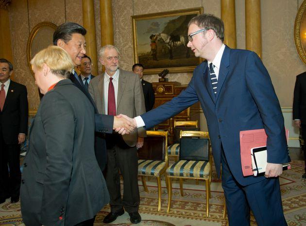 Simon Fletcher, meeting Chinese President Xi