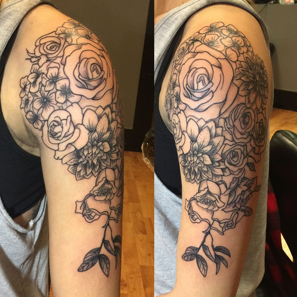 Bridal Bouquet Tattoos Are Now A Thing And They Look Pretty Rad