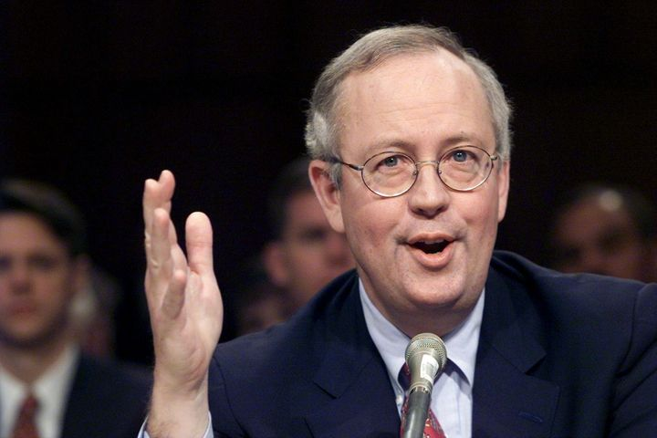 Kenneth Starr testifies before the Senate Governmental Affairs Committee on the subject of retaining the independent counsel