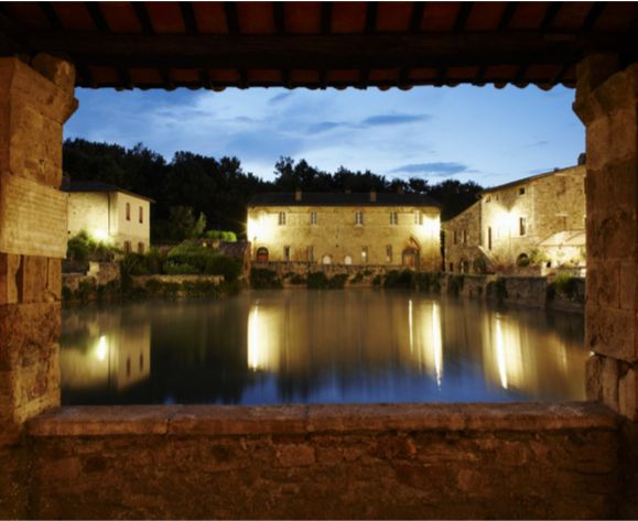 Bagno Vignoni, Tuscany.