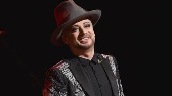 NEW YORK, NY - MAY 25:   Boy George performs in concert at the Beacon Theatre on May 25, 2016 in New York City.  (Photo by Dimitrios Kambouris/Getty Images)