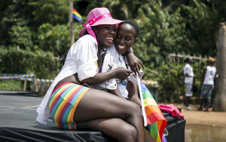 A photo from the third annual gay pride celebration in Entebbe, Uganda in 2015.