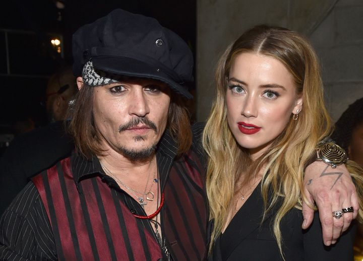 Actor/musician Johnny Depp and actress Amber Heard attend the 58th GRAMMY Awards on Feb. 15, 2016 in Los Angeles, California.