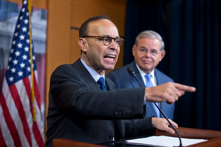Rep. Luis Gutierrez (D-Ill.) and Sen. Bob Menendez (D-N.J.) railed against a bill that's meant to alleviate Puerto Rico'