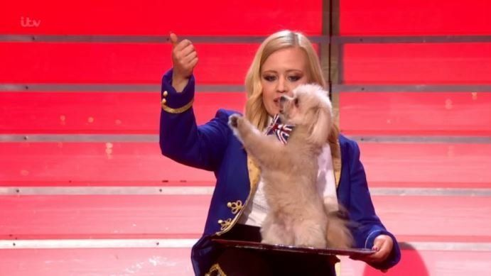 Trip Hazard and his owner Lucy impressed the 'Britain's Got Talent'
