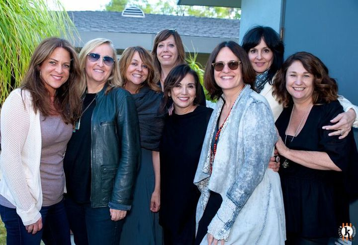 L-R: Cathy Schulman (President Women in Film & STX Studios), Melissa Etheridge, Tracy McKnight (music supervisor and