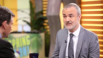GOOD MORNING AMERICA -Nick Denton of Gawker is a guest on 'Good Morning America,' 3/24/16, airing on the ABC Television Network. (Photo by Fred Lee/ABC via Getty Images) DAN HARRIS, NICK DENTON
